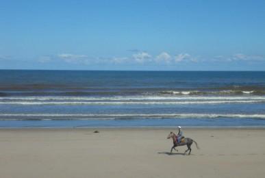 Imagínate un paseo a caballo por la playa