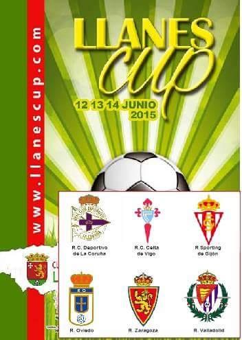 cartel LlanesCup Torneo de Futbol Base